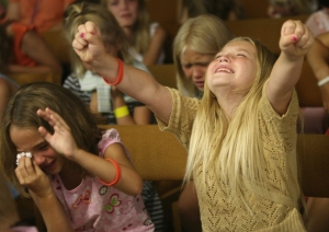 This picture kind of scares me. But, hey, kids in church!